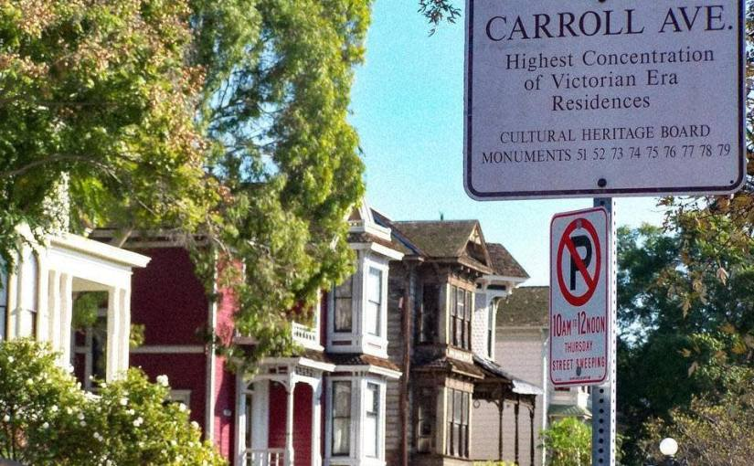Strolling down Carroll Avenue in Angelino Heights